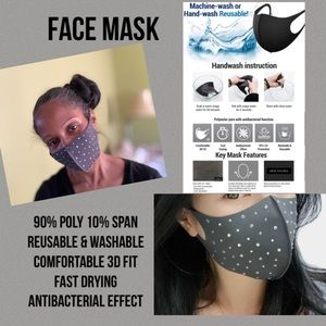 Accessories - Stone Fashion Mask -Gray